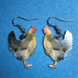 Chicken Hens Acrylic Earrings